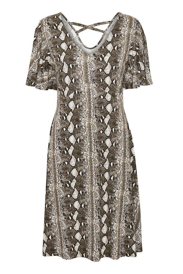 7905a2bf4a77 Army Green / snake print Dress fra Cream – Køb Army Green / snake print  Dress fra str.